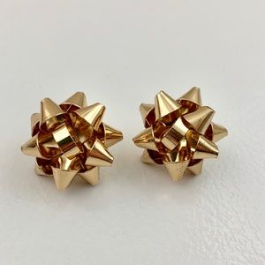 Kate Spade bourgeois bow gift present gold earring
